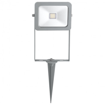 Светодиодный прожектор с колышком Eglo Faedo 2 96285, IP44, LED 10W 6500K 900lm CRI>65, серебро, прозрачный, металл, металл со стеклом, стекло