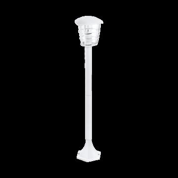 Садово-парковый светильник Eglo Aloria 93404, IP44, 1xE27x60W, белый, прозрачный, металл, металл с пластиком
