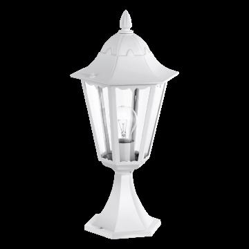 Садово-парковый светильник Eglo Navedo 93451, IP44, 1xE27x60W, белый, прозрачный, металл, металл со стеклом