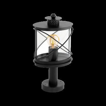 Садово-парковый светильник Eglo Hilburn 94864, IP44, 1xE27x60W, черный, прозрачный, металл, металл с пластиком