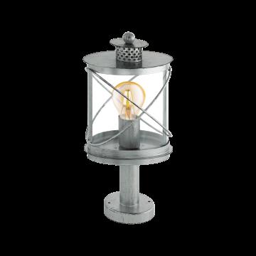 Садово-парковый светильник Eglo Hilburn 1 94867, IP44, 1xE27x60W, серебро, прозрачный, металл, металл с пластиком