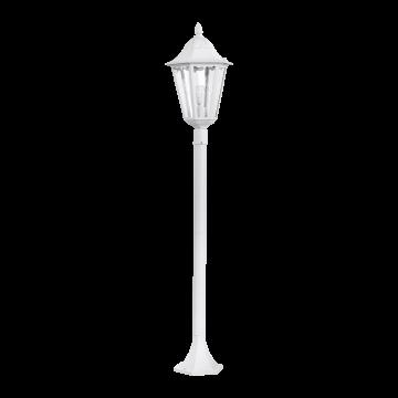 Уличный фонарь Eglo Navedo 93452, IP44, 1xE27x60W, белый, прозрачный, металл, металл со стеклом/пластиком