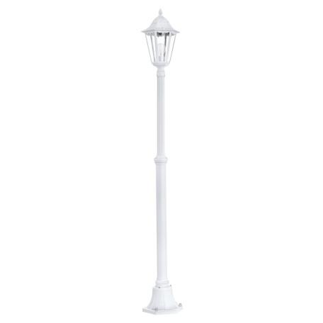 Уличный фонарь Eglo Navedo 93453, IP44, 1xE27x60W, белый, прозрачный, металл, металл со стеклом