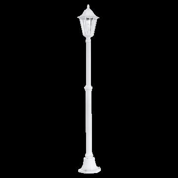 Уличный фонарь Eglo Navedo 93453, IP44, 1xE27x60W, белый, прозрачный, металл, стекло