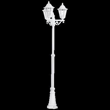 Уличный фонарь Eglo Navedo 93454, IP44, 3xE27x60W, белый, прозрачный, металл, металл со стеклом/пластиком