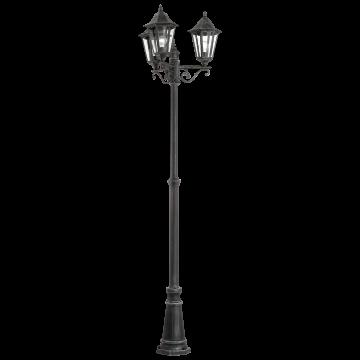Уличный фонарь Eglo Navedo 93465, IP44, 3xE27x60W, черный с серебряной патиной, прозрачный, металл, металл со стеклом