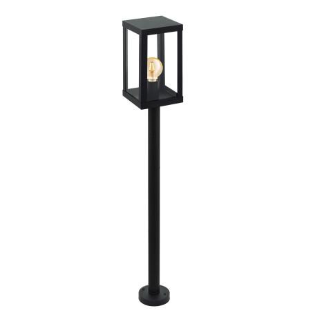 Уличный фонарь Eglo Alamonte 1 94833, IP44, 1xE27x60W, черный, прозрачный, металл, металл со стеклом