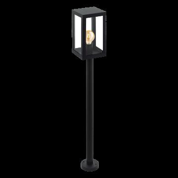 Уличный фонарь Eglo Alamonte 1 94833, IP44, 1xE27x60W, черный, прозрачный, металл, металл со стеклом/пластиком