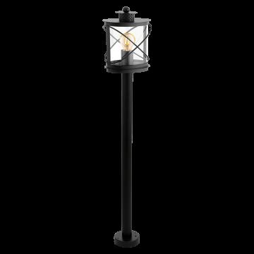 Уличный фонарь Eglo Hilburn 94844, IP44, 1xE27x60W, черный, прозрачный, металл, металл с пластиком