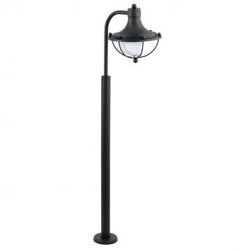 Уличный фонарь Eglo Monasterio 95977, IP44, 1xE27x60W, черный, белый, металл, стекло
