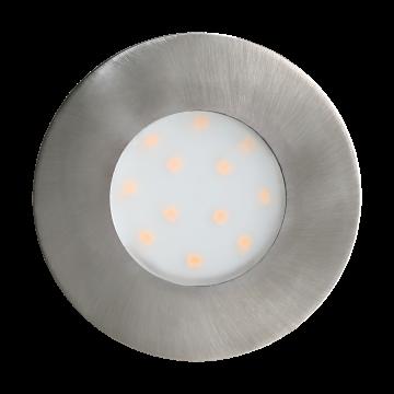 Встраиваемая светодиодная панель Eglo Pineda-Ip 96415, IP44, LED 6W 3000K 500lm, никель, пластик