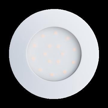 Встраиваемая светодиодная панель Eglo Pineda-Ip 96416, IP44, LED 12W 3000K 1000lm, белый, пластик