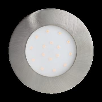 Встраиваемая светодиодная панель Eglo Pineda-Ip 96417, IP44, LED 12W, никель, пластик