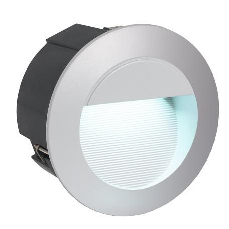 Встраиваемый настенный светодиодный светильник Eglo Zimba-LED 95233, IP65, LED 2,5W 4000K 320lm CRI>80, серебро, металл