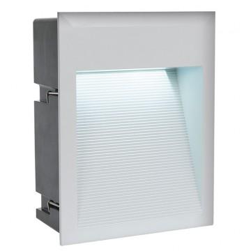 Встраиваемый настенный светодиодный светильник Eglo Zimba-LED 95234, IP65, серебро, металл