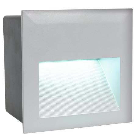 Встраиваемый настенный светодиодный светильник Eglo Zimba-LED 95235, IP65, LED 3,7W 4000K 400lm CRI>80, серебро, металл