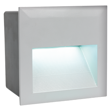 Встраиваемый настенный светодиодный светильник Eglo Zimba-LED 95235, IP65, LED 3,7W 4000K 400lm, серебро, металл