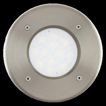 Встраиваемый в уличное покрытие светодиодный светильник Eglo Lamedo 93482, IP67, LED 2,5W 3000K 180lm, сталь, металл, стекло