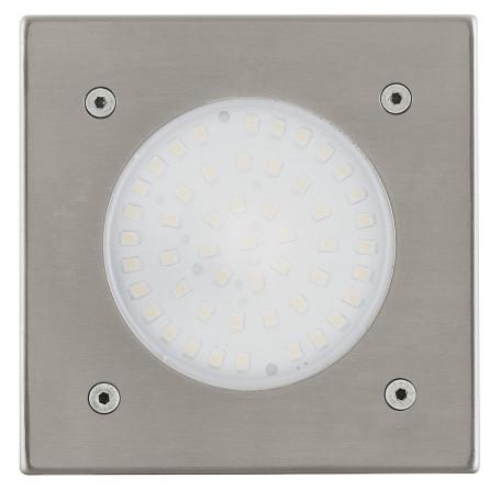 Встраиваемый в уличное покрытие светодиодный светильник Eglo Lamedo 93481, IP67, LED 2,5W 3000K 180lm, сталь, металл, стекло