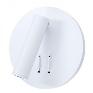Настенный светодиодный светильник с регулировкой направления света Arte Lamp Instyle Electra A8232AP-1WH, LED 9W 3000K 550lm, белый, металл