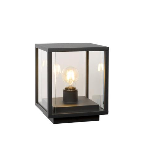 Садовый светильник Lucide Claire 27883/25/30, IP54, 1xE27x15W, черный, прозрачный, металл, стекло