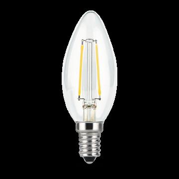 Филаментная светодиодная лампа Gauss 103801107 свеча E14 7W, 2700K (теплый) CRI>90 150-265V, гарантия 3 года - миниатюра 3