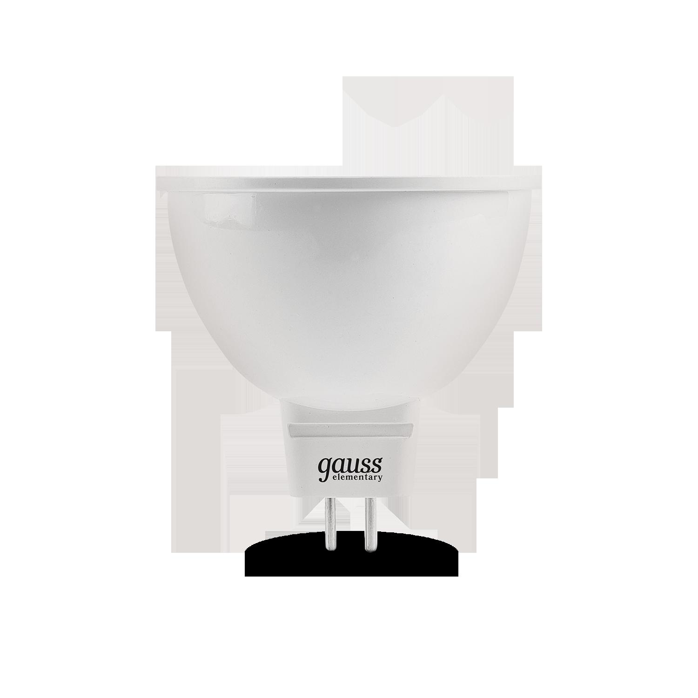 Светодиодная лампа Gauss Elementary 13537 MR16 GU5.3 7W, 6500K (холодный) CRI>80 180-240V, гарантия 2 года - фото 2