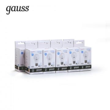 Светодиодная лампа Gauss Elementary 23230 груша E27 10W, 6500K (холодный) CRI>80 180-240V, гарантия 2 года - миниатюра 2