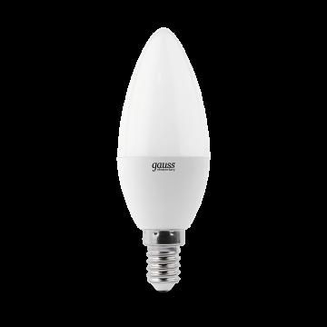 Светодиодная лампа Gauss Elementary 33127T свеча E14 7W, 4100K (холодный) 180-240V - миниатюра 3