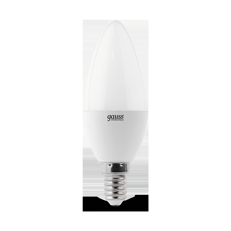 Светодиодная лампа Gauss Elementary 33127T свеча E14 7W, 4100K (холодный) 180-240V - фото 3