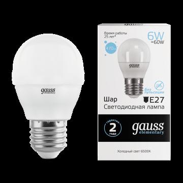 Светодиодная лампа Gauss Elementary 53236, белый