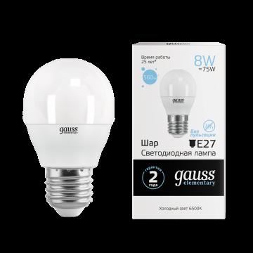 Светодиодная лампа Gauss Elementary 53238, белый