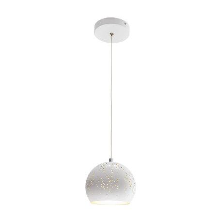 Подвесной светодиодный светильник Citilux Деко CL504100, LED 5W 3000K 325lm, белый, золото, металл