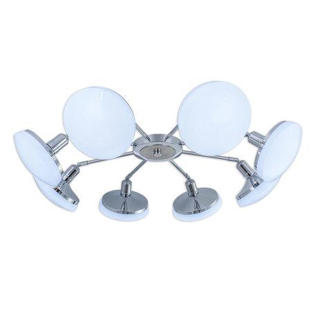 Потолочная светодиодная люстра с регулировкой направления света Citilux Тамбо CL716281Nz, LED 96W 4000K 6240lm, хром, белый, металл, пластик