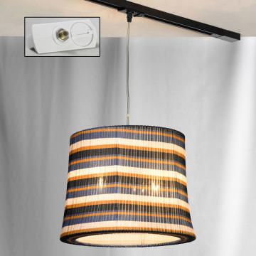 Подвесной светильник для шинной системы Lussole LGO Athens LSP-9990-TAW, IP21, 3xE27x60W, хром, разноцветный, металл, текстиль