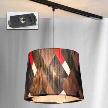 Подвесной светильник для шинной системы Lussole LGO Athens LSP-9991-TAB, IP21, 3xE27x60W, хром, разноцветный, металл, текстиль