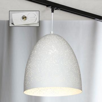 Подвесной светильник для шинной системы Lussole Loft Port Chester LSP-9891-TAW, IP21, 1xE27x60W, белый, металл