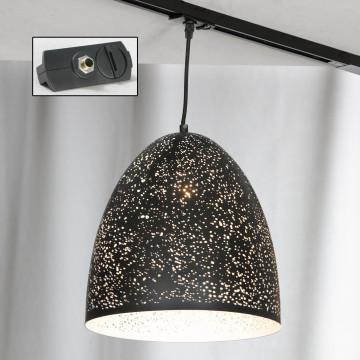 Подвесной светильник для шинной системы Lussole Loft Port Chester LSP-9892-TAB, IP21, 1xE27x60W, черный, металл