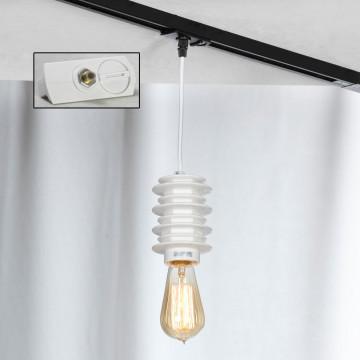Подвесной светильник для шинной системы Lussole Loft Kingston LSP-9921-TAW, IP21, 1xE27x60W, белый, керамика