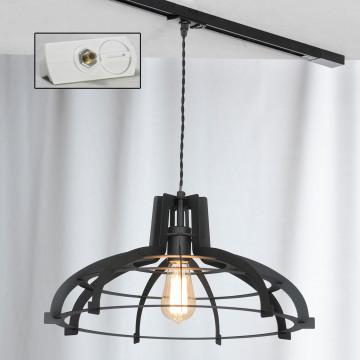Подвесной светильник для шинной системы Lussole Loft Oceanside LSP-9943-TAW, IP21, 1xE27x60W, черный, металл