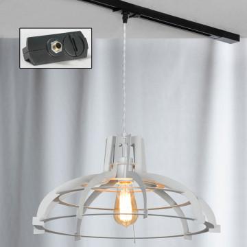 Подвесной светильник для шинной системы Lussole Loft Oceanside LSP-9944-TAB, IP21, 1xE27x60W, белый, металл