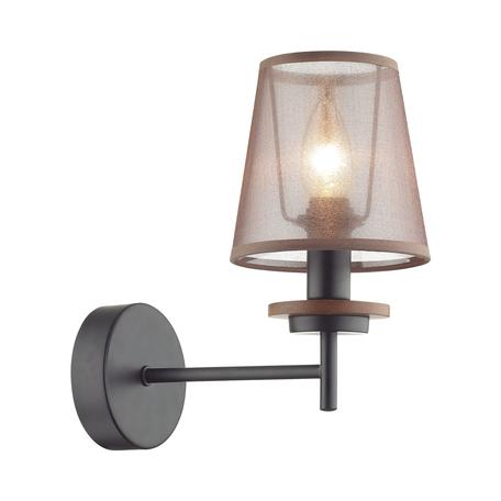 Бра Lumion County Betsy 4498/1W, 1xE14x40W, черный, коричневый, металл, дерево, текстиль