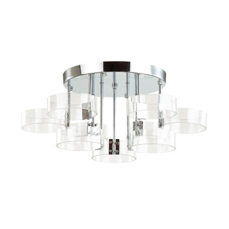 Потолочная светодиодная люстра Lumion LEDio Hudson 4496/72CL, LED 72W 4000K 6120lm, хром, прозрачный, металл, пластик