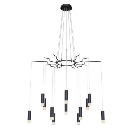 Люстра-каскад Maytoni Davida MOD035PL-12B, 12xG9x6W, черный, белый, металл, пластик