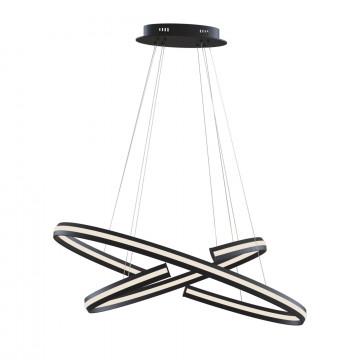 Подвесной светодиодный светильник Maytoni Azumi MOD036PL-L70B, LED 70W 3000K 2300lm CRI83, черный, металл