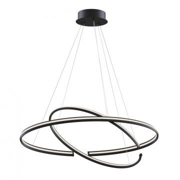 Подвесной светодиодный светильник Maytoni Azumi MOD036PL-L80B, LED 80W 3000K 4100lm CRI83, черный, металл