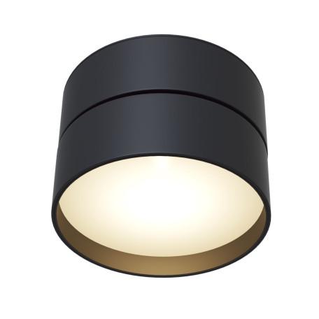 Потолочный светодиодный светильник с регулировкой направления света Maytoni Onda C024CL-L18B, LED 18W 3000K 990lm CRI82, черный, металл, металл с пластиком