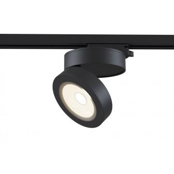 Светодиодный светильник для шинной системы Maytoni Track TR006-1-12W3K-B, LED 12W, 3000K (теплый), черный, металл