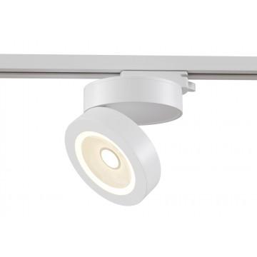 Светодиодный светильник для шинной системы Maytoni Track TR006-1-12W3K-W, LED 12W, 3000K (теплый), белый, металл