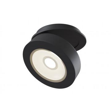 Встраиваемый светодиодный светильник с регулировкой направления света Maytoni Magic DL2003-L12B, LED 12W, 3000K (теплый), черный, металл
